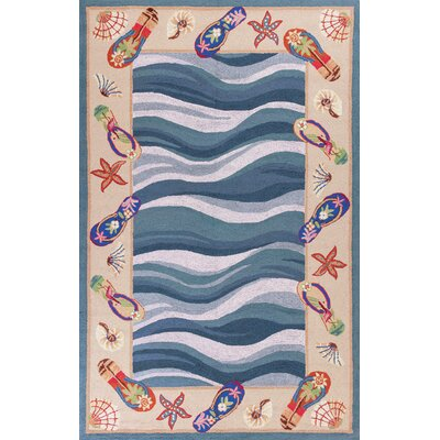 Livia Fun in the Sun Nautical Novelty Area Rug Rug Size: Round 76