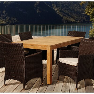Bridgepointe Teak Wood Dining Table