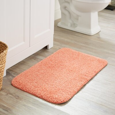 Julienne Basic Bath Rug Color: Coral