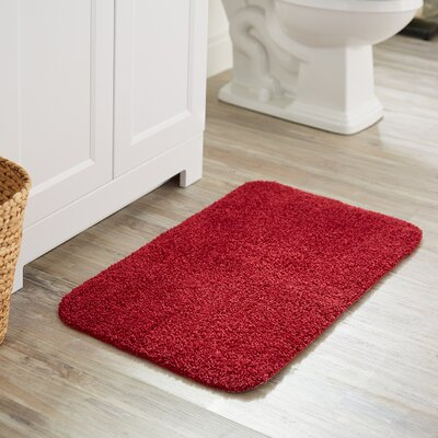 Darby Basic Bath Rug Color: Cranberry