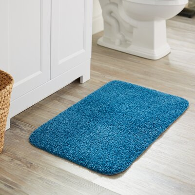 Julienne Basic Bath Rug Color: French Blue