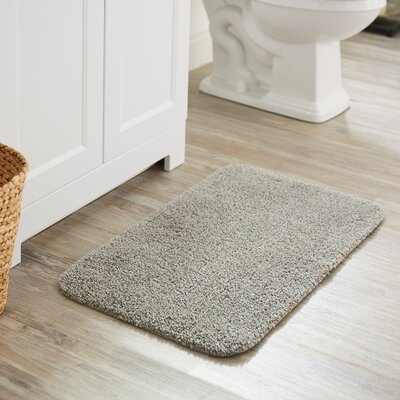 Julienne Basic Bath Rug Color: Gray