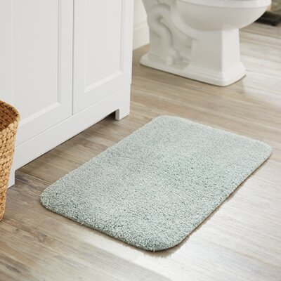 Julienne Basic Bath Rug Color: Light Blue