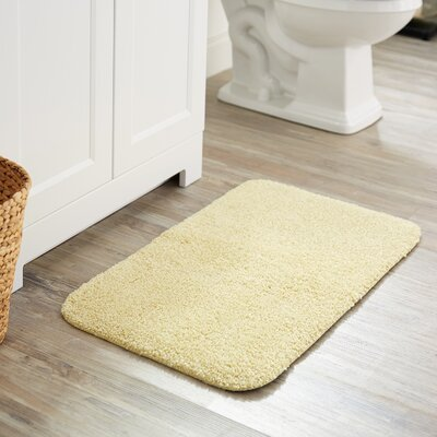 Julienne Basic Bath Rug Color: Light Yellow