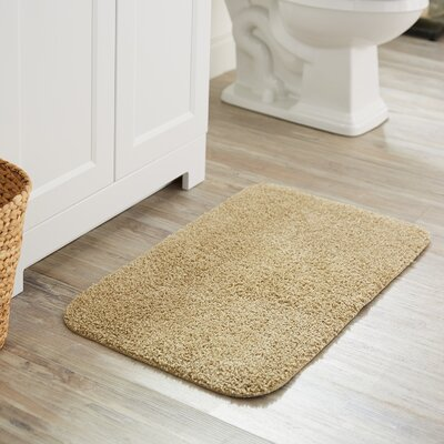 Julienne Basic Bath Rug Color: Tan