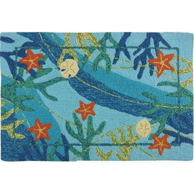 Coeymans Underwater Blue Coral and Starfish Indoor/Outdoor Area Rug Rug Size: 110 x 210