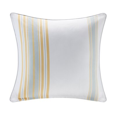 Corbin Outdoor Throw Pillow Size: 20 H x 20 W x 5 D, Color: Yellow