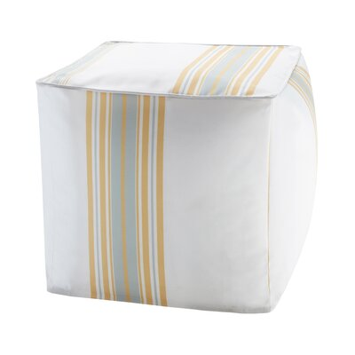 Corbin Ottoman with Cushion Color: Yellow