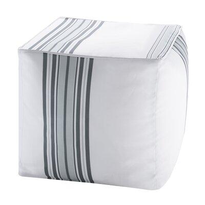 Corbin Ottoman with Cushion Color: Gray
