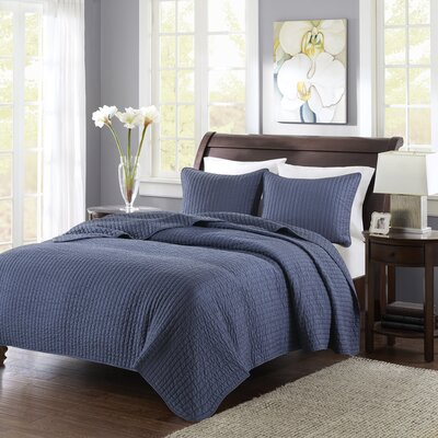 Coverlet Set Size: Twin / Twin XL, Color: Navy