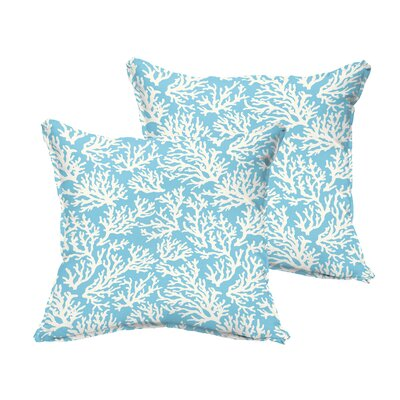 Sutton Reef Flange Indoor/Outdoor Throw Pillow Size: 18 H x 18 W x 6 D