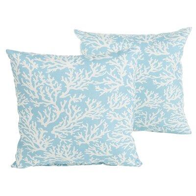 Sutton Reef Indoor/Outdoor Throw Pillow Size: 18 H x 18 W x 6 D