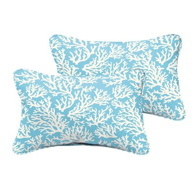 Evalyn Reef Corded Indoor/Outdoor Lumbar Pillow