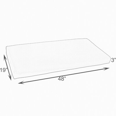Sutton Reef Indoor/Outdoor Bench Cushion Size: 48 W x 19 D