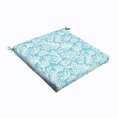 Sutton Reef Indoor/Outdoor Square Dining Chair Cushion Size: 20 W x 20 D