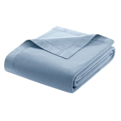 Oceanview Micro Fleece Throw Blanket Size: Twin, Color: Wedgewood