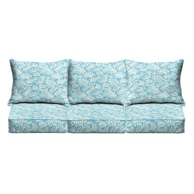 Maysville 6 Piece Outdoor Sofa Cushion Set with Corded
