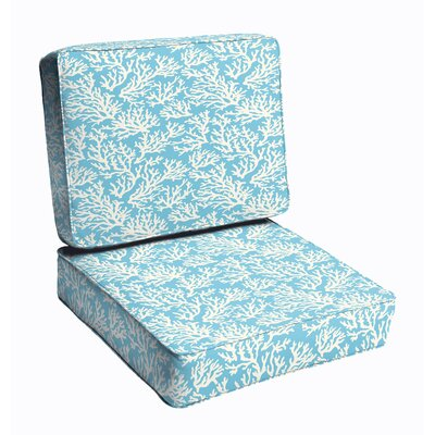 2 Piece Outdoor Dining Chair Cushion Set