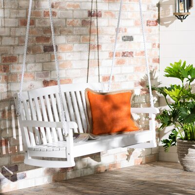 Bristol Hanging Porch Swing Finish: White