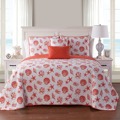 Glendive 4 Piece Reversible Quilt Set Size: King