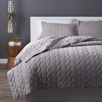 Taft Quilt Set Size: Full / Queen, Color: Grey