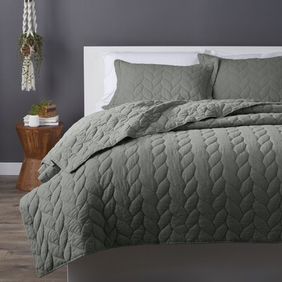 Taft Quilt Set Size: Full / Queen, Color: Sage