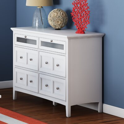 Windham 6 Drawer Media Chest Finish: White