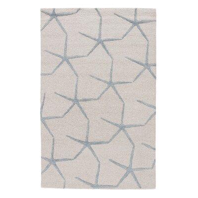 Farley Coastal Ivory/Blue Area Rug Rug Size: 5 x 8