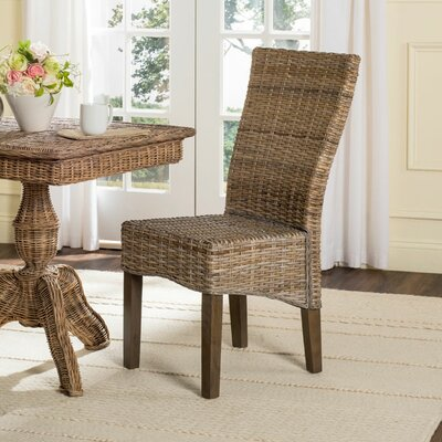 Calypso Solid Wood Dining Chair Finish: Brown/Gray