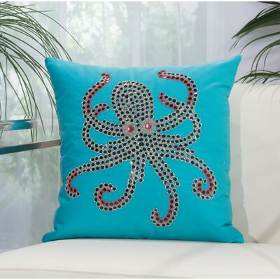 Dorrington Throw Pillow Color: Turquoise/Coral
