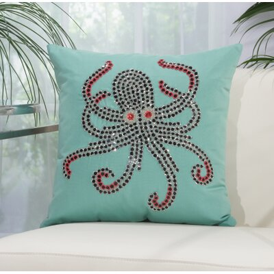Dorrington Throw Pillow Color: Aqua/Coral