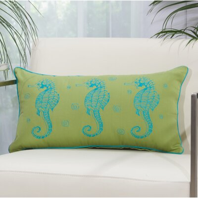 Thea Key Lumbar Pillow Color: Green/ Turquoise