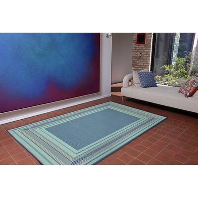 Roselawn Etched Blue Indoor/Outdoor Area Rug Rug Size: 410 x 76