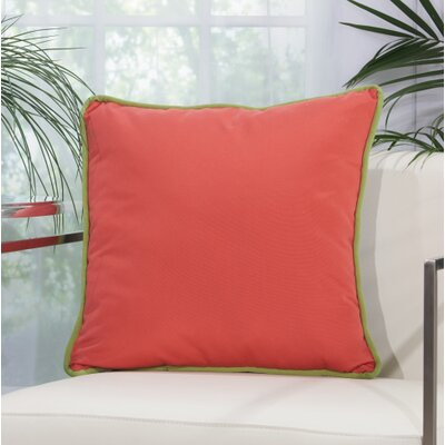 Wilhelmina Throw Pillow Color: Coral/Navy