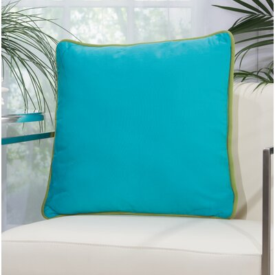 Burleigh 2 Sided Solid Corded Outdoor Acrylic Throw Pillow Color: Green Turquoise