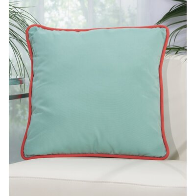 Wilhelmina Throw Pillow Color: Aqua/Turquoise