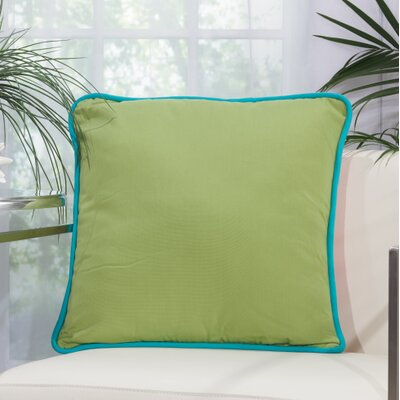 Wilhelmina Throw Pillow Color: Green/Coral
