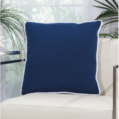 Burleigh 2 Sided Solid Corded Outdoor Acrylic Throw Pillow Color: Navy