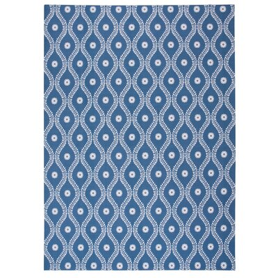 Astrid Navy Indoor/Outdoor Area Rug Rug Size: 43 x 63