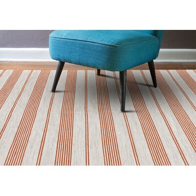 Alicea Hand-Woven Persimmon Area Rug Rug Size: Rectangle 4 x 6
