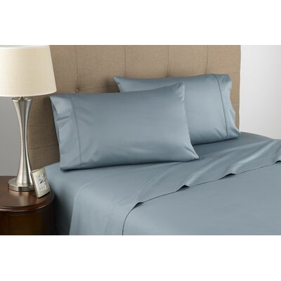 Harwood Organic 300 Thread Count Cotton Sheet Set Size: Full, Color: Mint Green