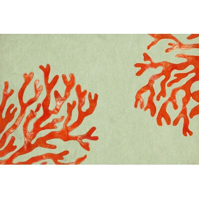 Clarkstown Coral Doormat Color: Red