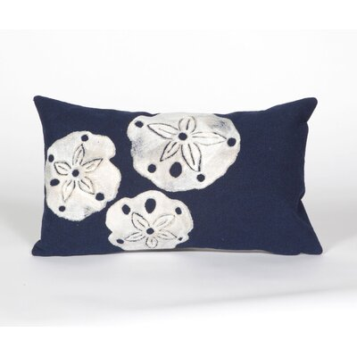 Rexford Sand Dollar Lumbar Pillow Color: Navy