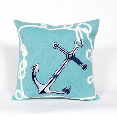 Clarkstown Marina Throw Pillow Color: Aqua