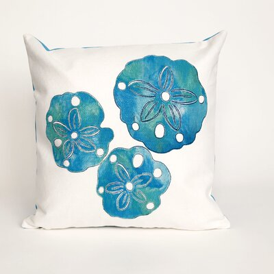 Rexford Sand Dollar Throw Pillow Color: Blue