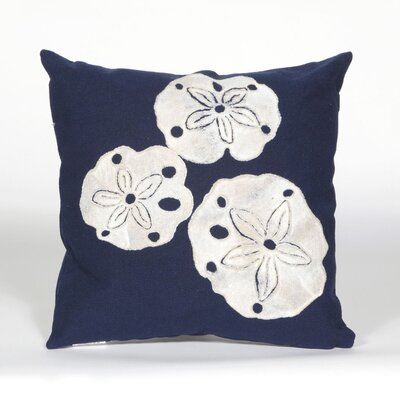Rexford Sand Dollar Throw Pillow Color: Navy