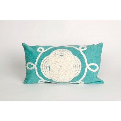 Clarkstown Ornamental Knot Lumbar Pillow Color: Aqua