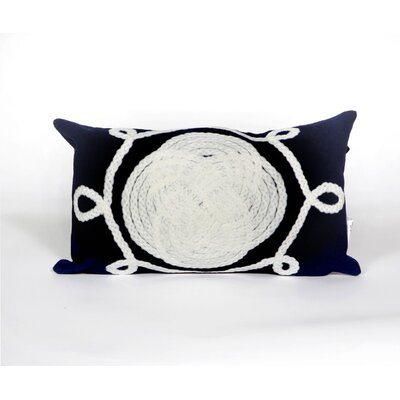 Clarkstown Ornamental Knot Lumbar Pillow Color: Navy