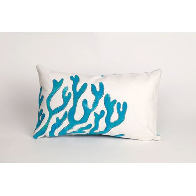 Rexford Coral Lumbar Pillow Color: Blue