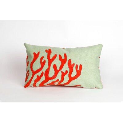Clarkstown Coral Lumbar Pillow Color: Red